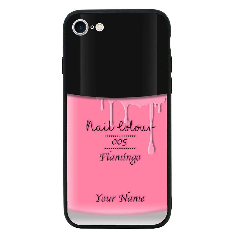 Apple iPhone 8 Plus Personalised Name Case Glass Cover / Nail Polish I-Choose Ltd