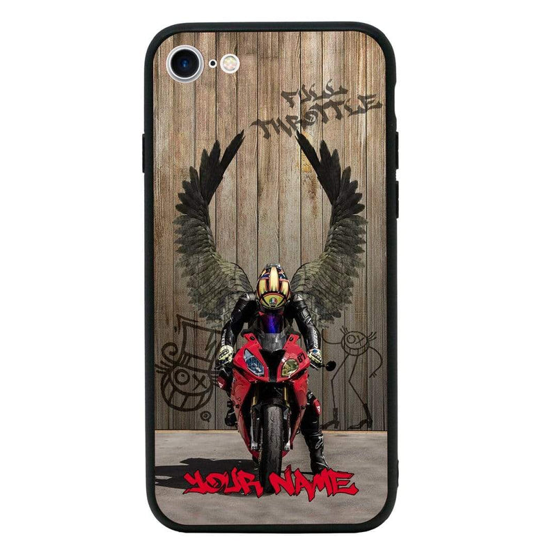 Apple iPhone 8 Plus Personalised Name Case Glass Cover / Superbikes I-Choose Ltd