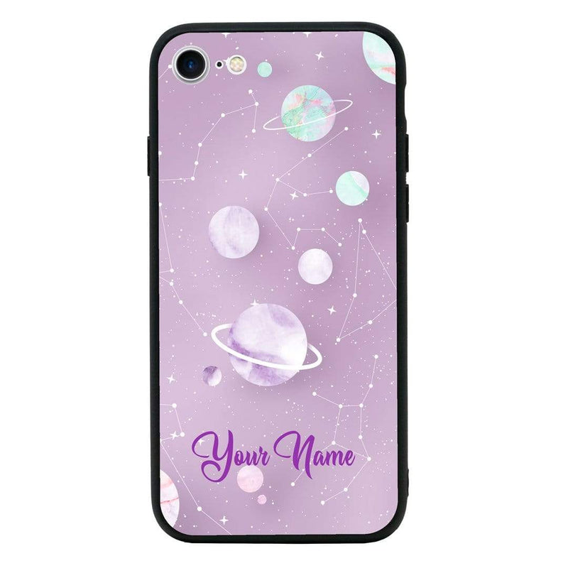 Apple iPhone SE 2020 Personalised Name Case Glass Cover / Marble I-Choose Ltd