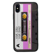 Apple iPhone X XS 10 Personalised Name Case Glass Cover / Cassette Tape I-Choose Ltd
