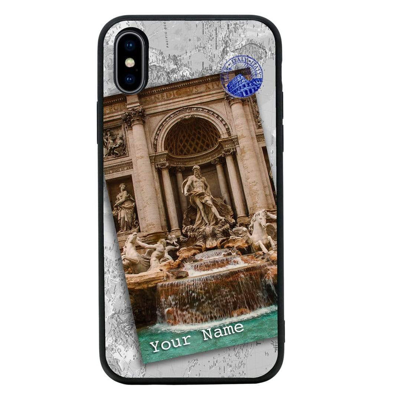 Apple iPhone X XS 10 Personalised Name Case Glass Cover / Landmarks I-Choose Ltd