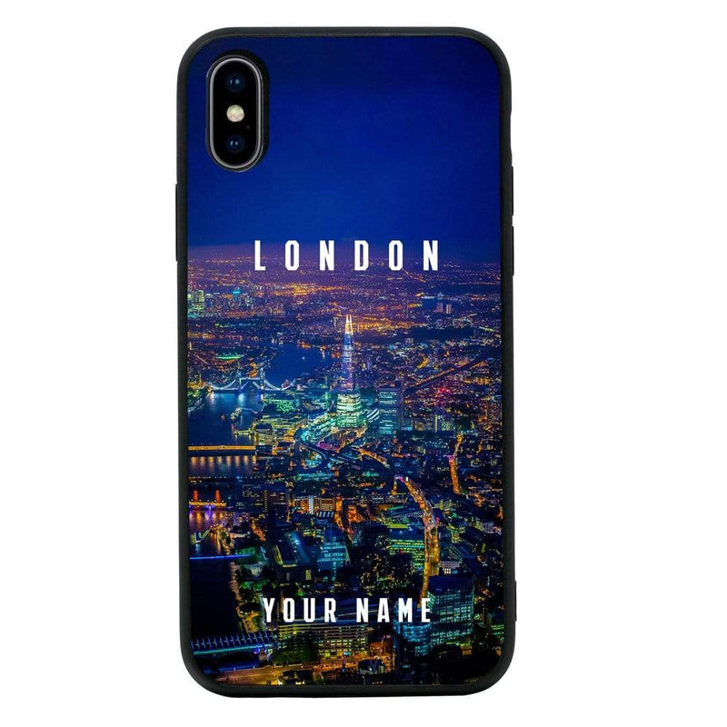 Apple iPhone X XS 10 Personalised Name Case Glass Cover / London I-Choose Ltd