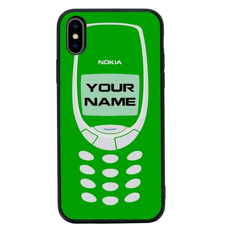 Apple iPhone X XS 10 Personalised Name Case Glass Cover / Retro Mobile I-Choose Ltd