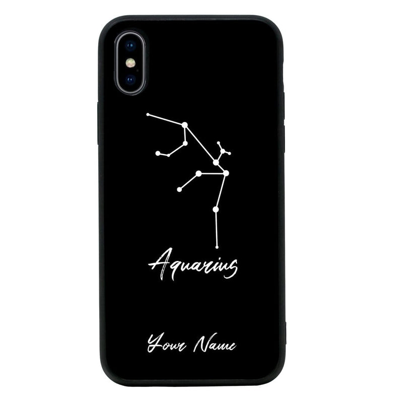 Apple iPhone X XS 10 Personalised Name Case Glass Cover / Zodiac I-Choose Ltd