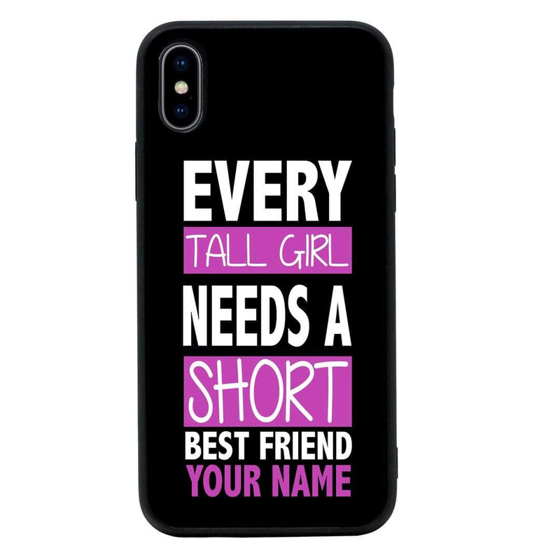 Apple iPhone XR Personalised Name Case Glass Cover / Best Friends I-Choose Ltd