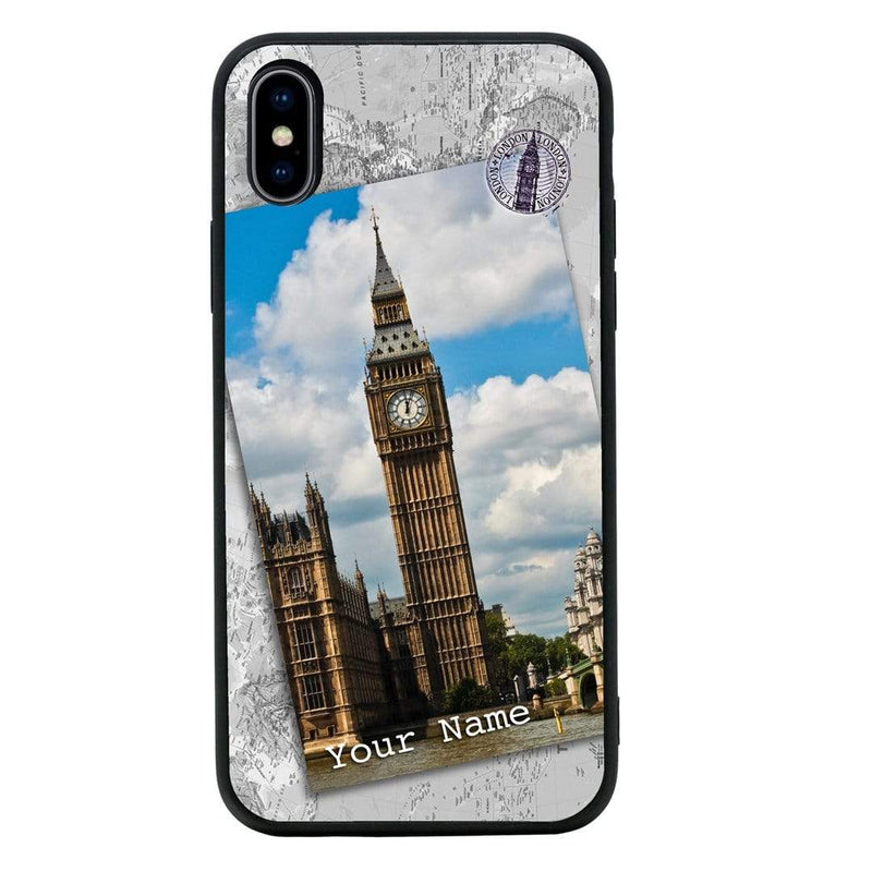 Apple iPhone XR Personalised Name Case Glass Cover / Landmarks I-Choose Ltd