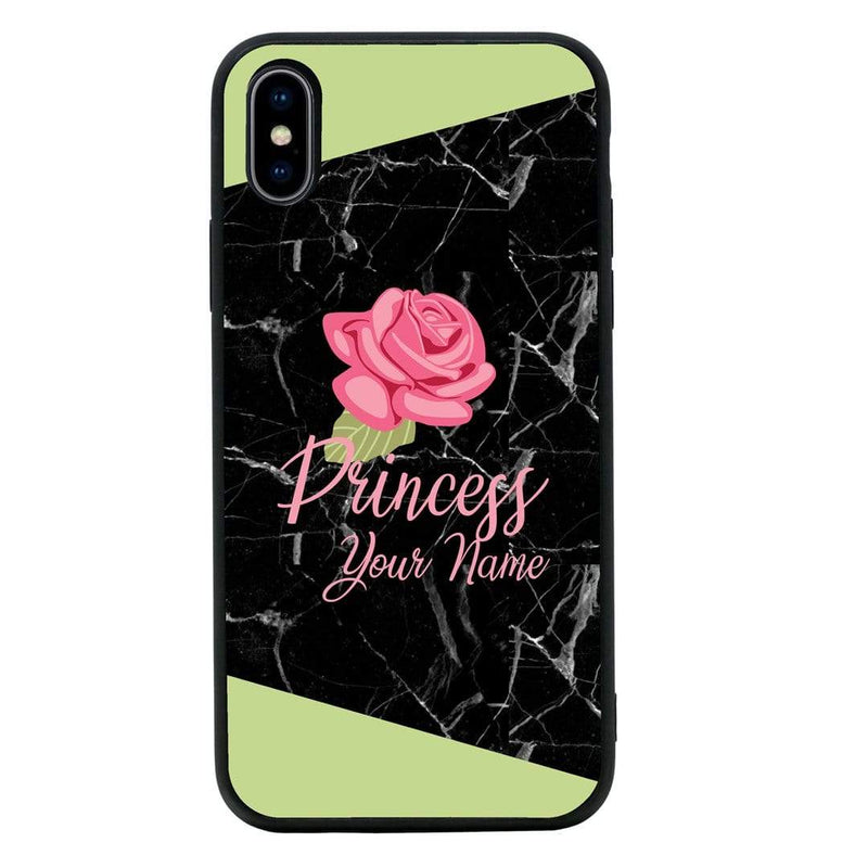 Apple iPhone XR Personalised Name Case Glass Cover / Marble I-Choose Ltd