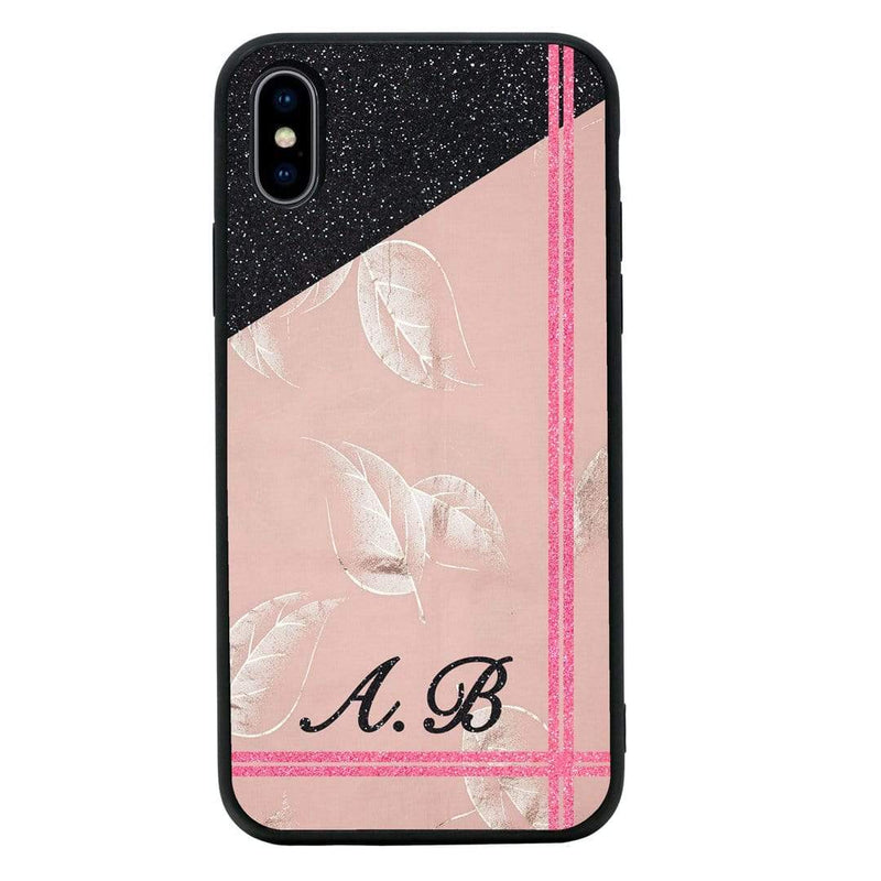 Apple iPhone XS Max Personalised Name Case Glass Cover / Contrast I-Choose Ltd
