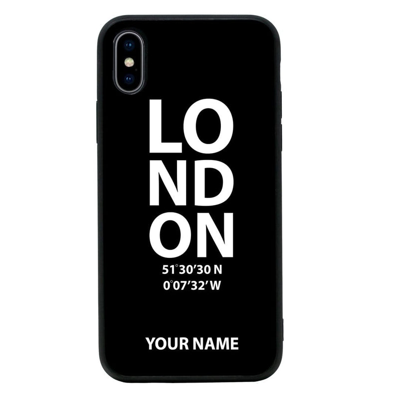 Apple iPhone XS Max Personalised Name Case Glass Cover / London I-Choose Ltd