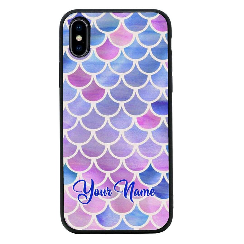 Apple iPhone XS Max Personalised Name Case Glass Cover / Mermaids