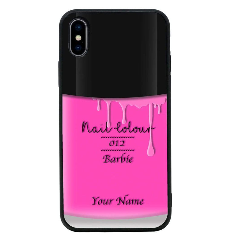 Apple iPhone XS Max Personalised Name Case Glass Cover / Nail Polish I-Choose Ltd