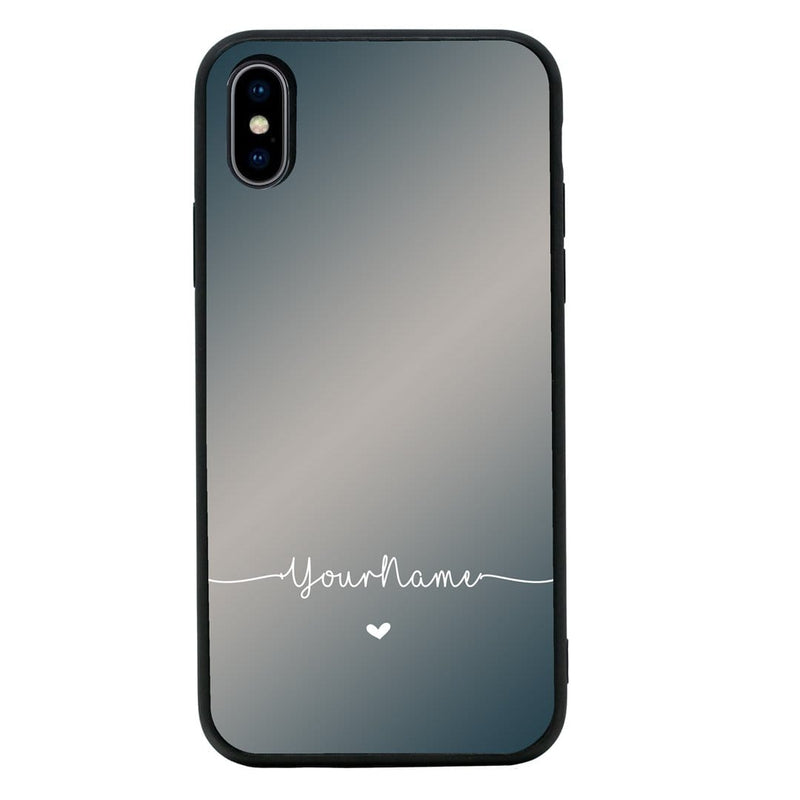 Apple iPhone XS Max Personalised Name Case Glass Cover / Name Line I-Choose Ltd