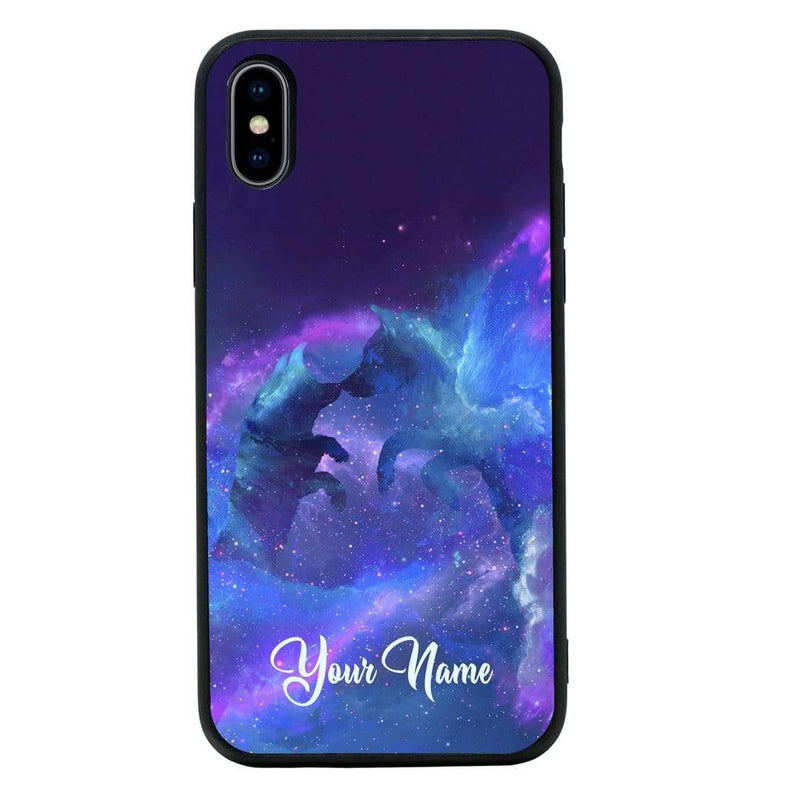 Apple iPhone XS Max Personalised Name Case Glass Cover / Wolf I-Choose Ltd