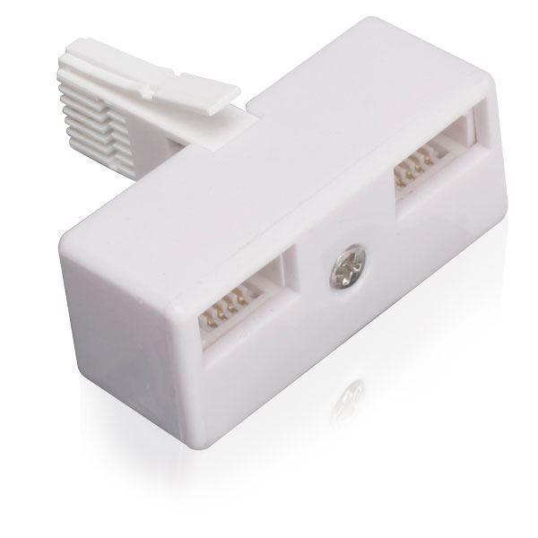 BT 2 Port Splitter Double Adapter One BT (M) to Two BT (F) I-Choose Ltd