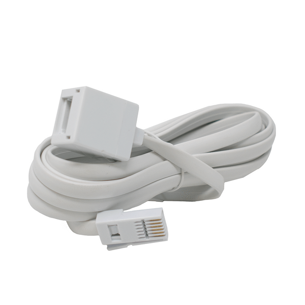 BT Male to Female Extension Cable for Telephone White 10M I-Choose Ltd