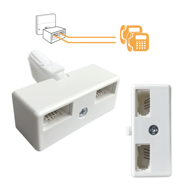 BT Splitter Plug to Double Telephone Socket Adaptor I-Choose Ltd
