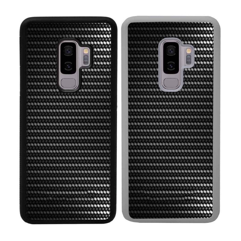 Carbon Fibre Effect Case Phone Cover for Samsung Galaxy S9 Plus I-Choose Ltd