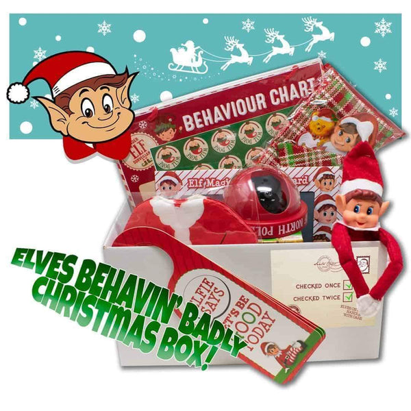 Christmas Elf Behavin Badly Xmas Box from Santa for Children I-Choose Ltd