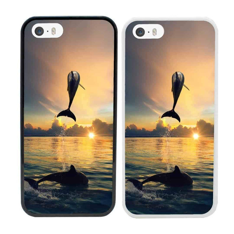 Dolphins Case Phone Cover for Apple iPhone 8 I-Choose Ltd