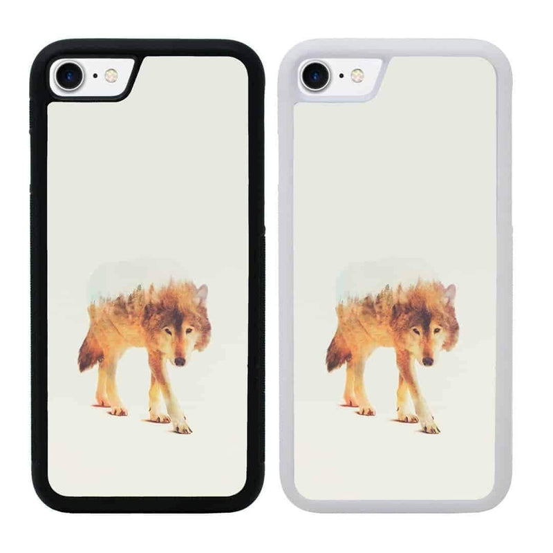 Double Exposure Animals Case Phone Cover for Apple iPhone 8 I-Choose Ltd