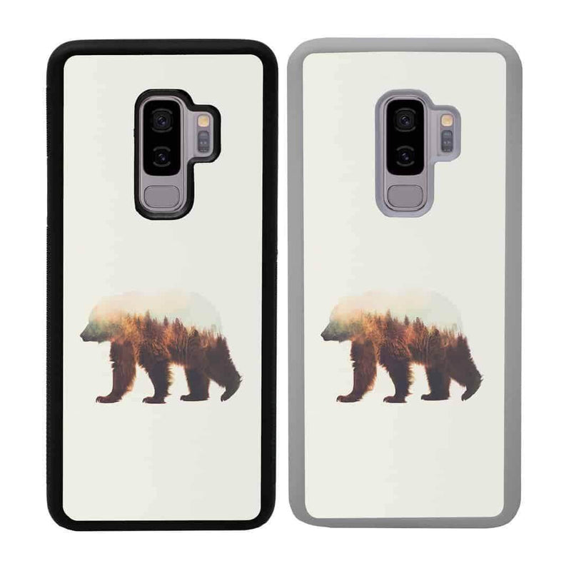 Double Exposure Animals Case Phone Cover for Samsung Galaxy S9 Plus I-Choose Ltd