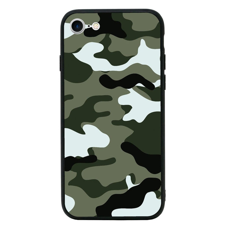 Glass Case Phone Cover for Apple iPhone 6 6s / Camouflage I-Choose Ltd