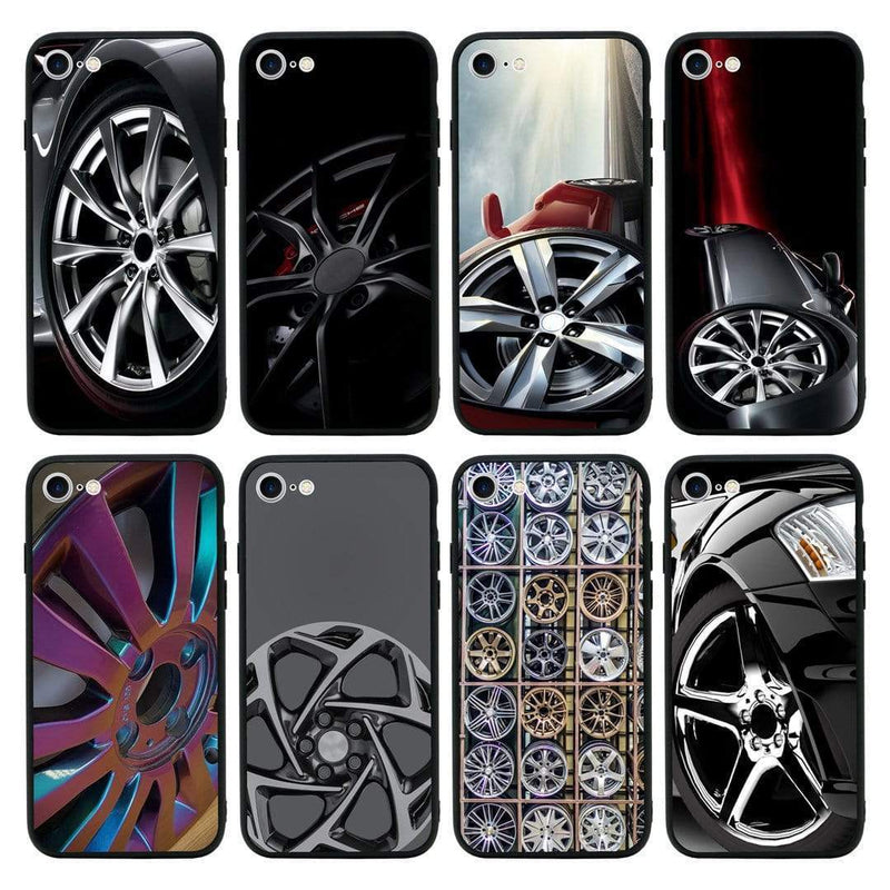 Glass Case Phone Cover for Apple iPhone 7 / Alloy Wheel I-Choose Ltd