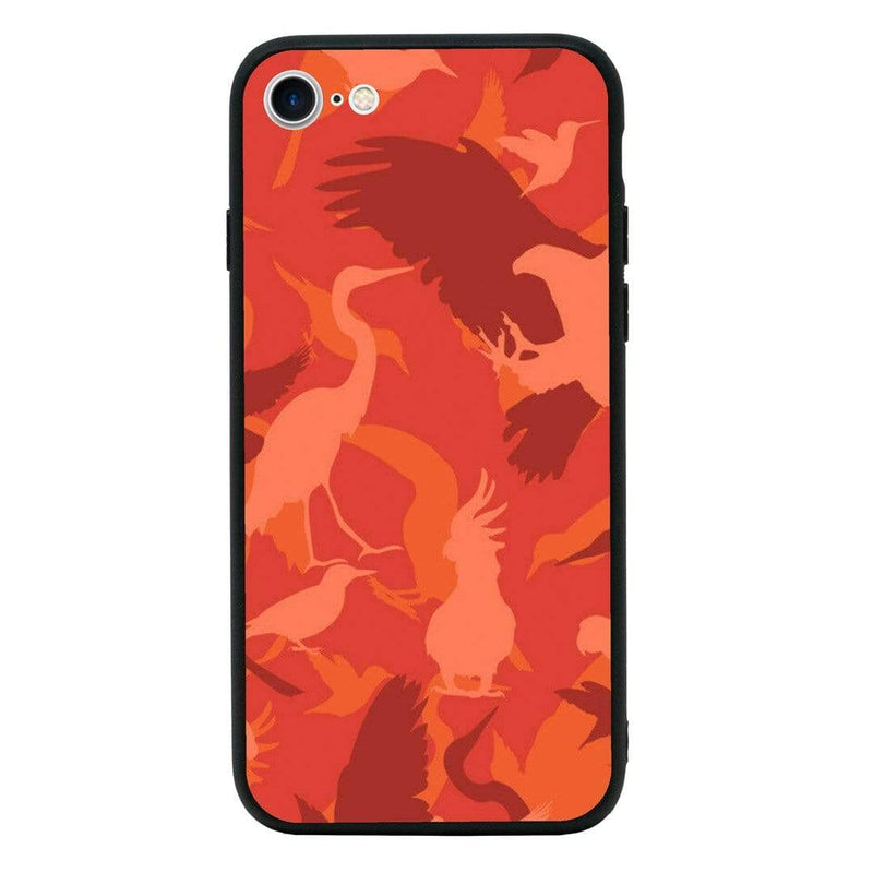 Glass Case Phone Cover for Apple iPhone 7 / Camo Animals I-Choose Ltd