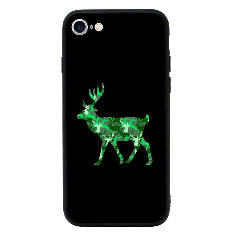 Glass Case Phone Cover for Apple iPhone 7 / Camo Animals