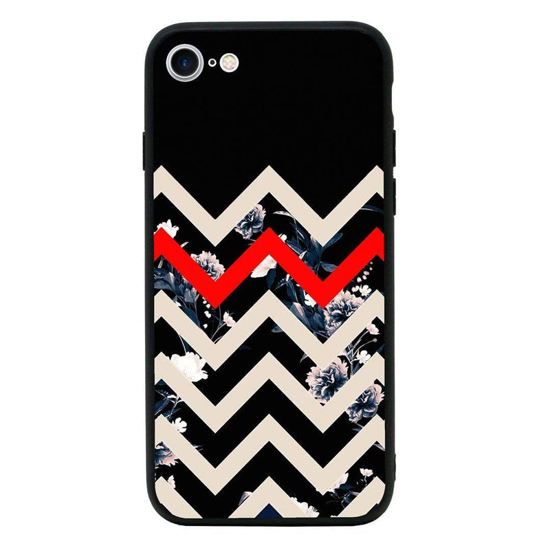 Glass Case Phone Cover for Apple iPhone 7 / Chevron Block I-Choose Ltd