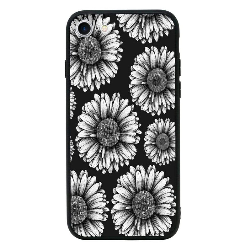 Glass Case Phone Cover for Apple iPhone 7 / Floral Bloom I-Choose Ltd