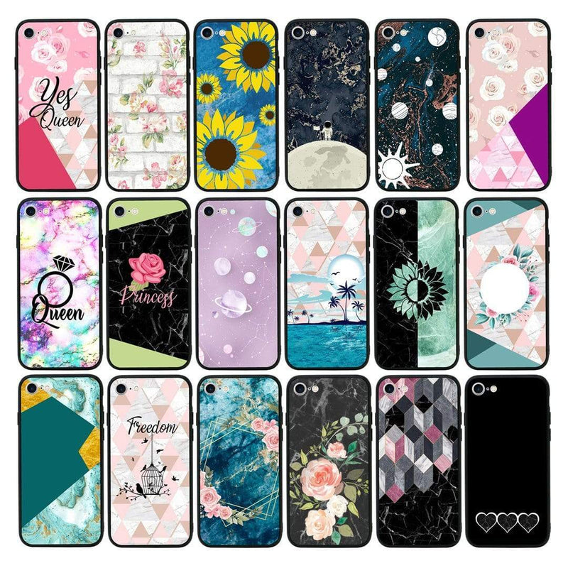 Glass Case Phone Cover for Apple iPhone 7 / Marble I-Choose Ltd