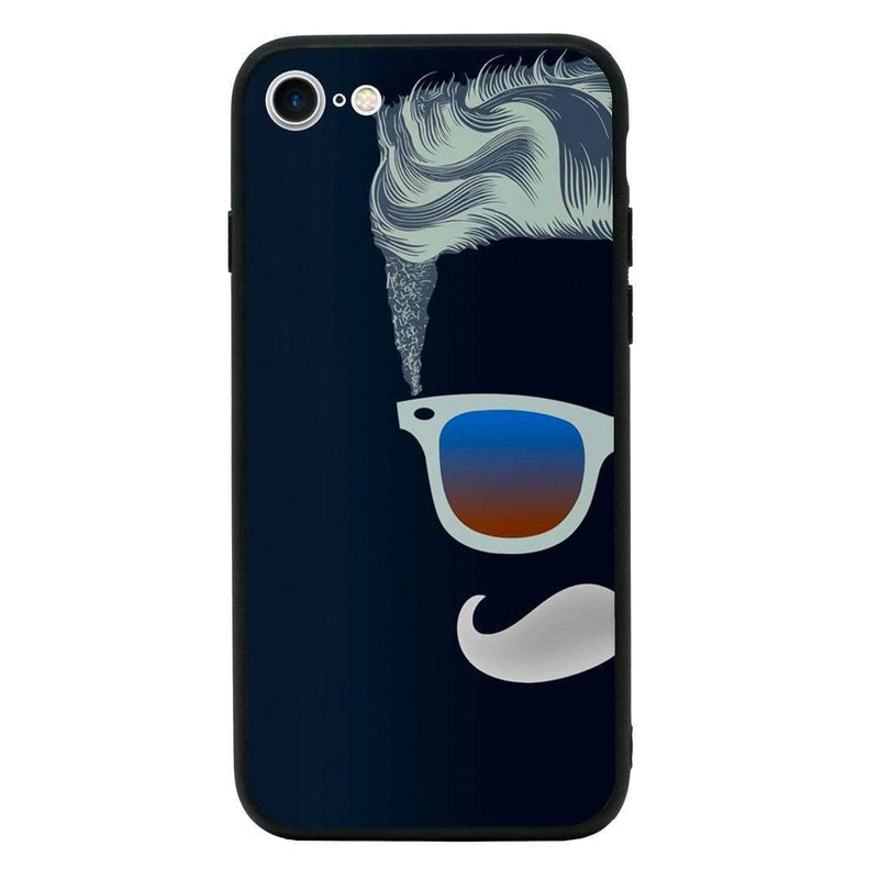 Glass Case Phone Cover for Apple iPhone 7 / Moustache I-Choose Ltd