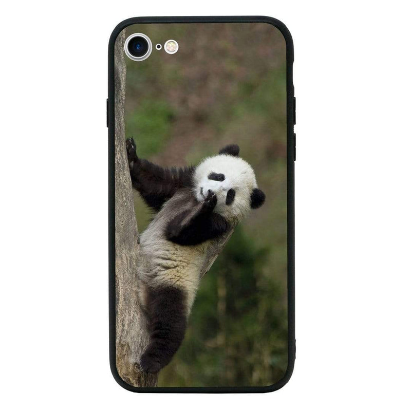 Glass Case Phone Cover for Apple iPhone 7 / Panda Cub I-Choose Ltd