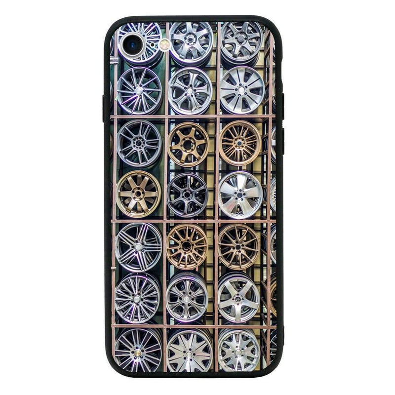 Glass Case Phone Cover for Apple iPhone 7 Plus / Alloy Wheel I-Choose Ltd