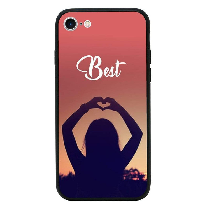 Glass Case Phone Cover for Apple iPhone 7 Plus / Best Friends I-Choose Ltd
