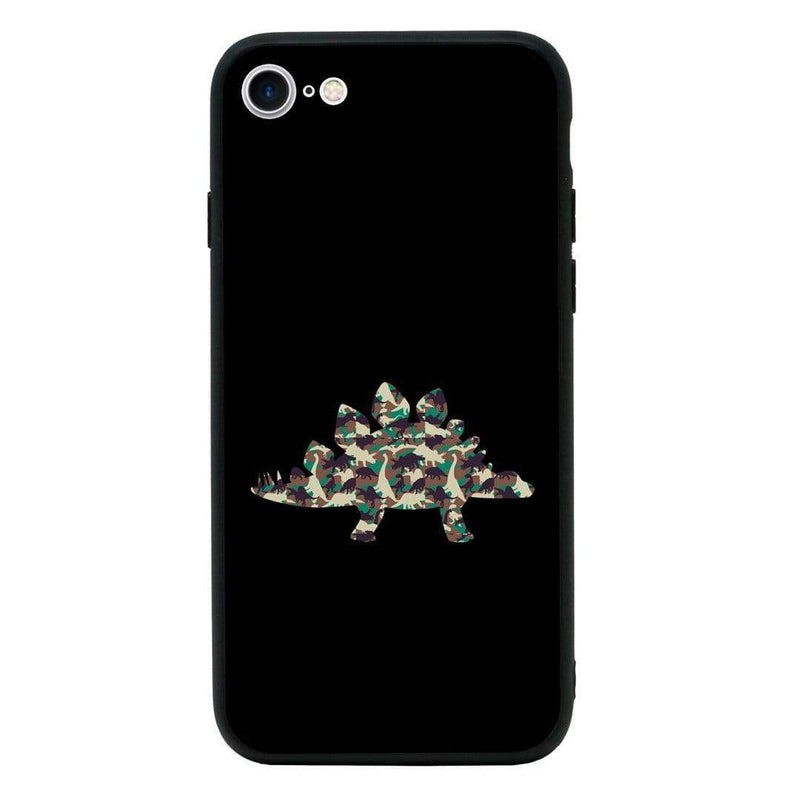 Glass Case Phone Cover for Apple iPhone 7 Plus / Camo Animals I-Choose Ltd