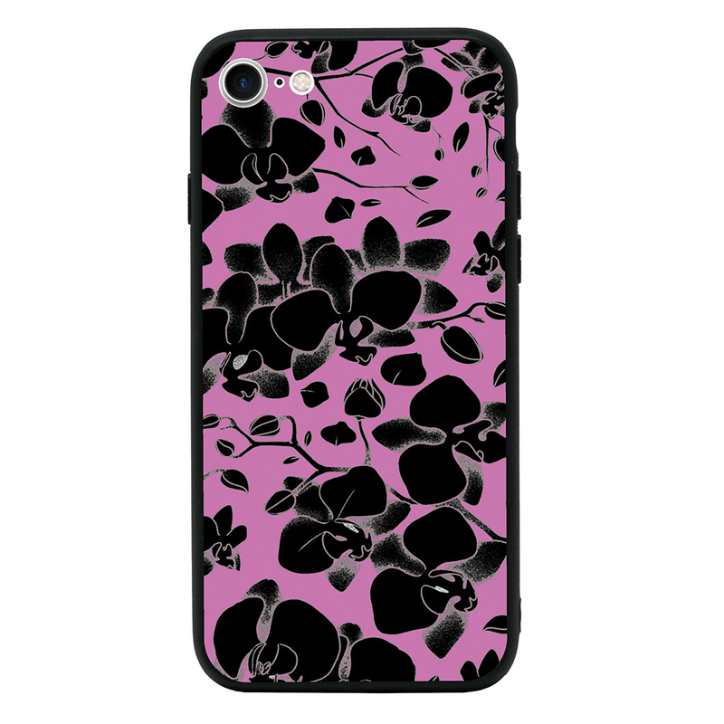 Glass Case Phone Cover for Apple iPhone 7 Plus / Floral Bloom I-Choose Ltd