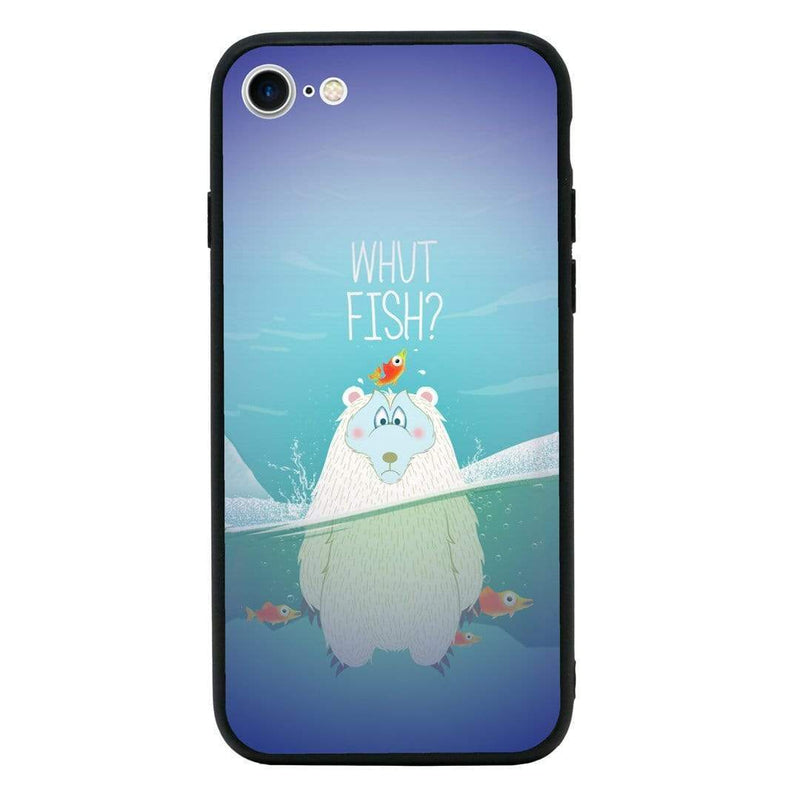 Glass Case Phone Cover for Apple iPhone 7 Plus / Funny Animal Quips I-Choose Ltd