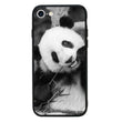 Glass Case Phone Cover for Apple iPhone 7 Plus / Panda Cub Black and White I-Choose Ltd