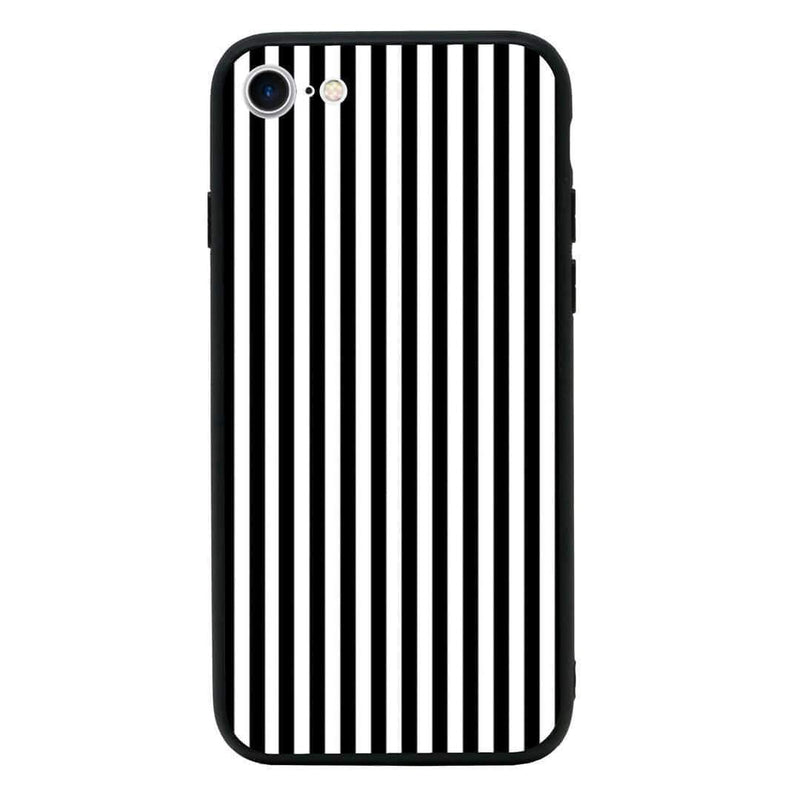 Glass Case Phone Cover for Apple iPhone 7 Plus / Vertical Stripes I-Choose Ltd