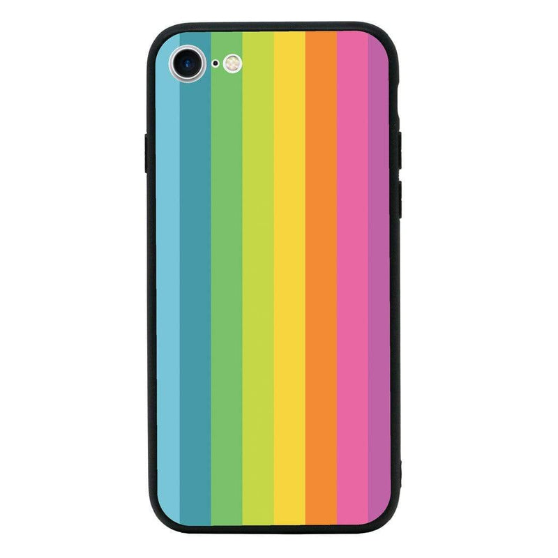 Glass Case Phone Cover for Apple iPhone 7 Plus / Vertical Stripes