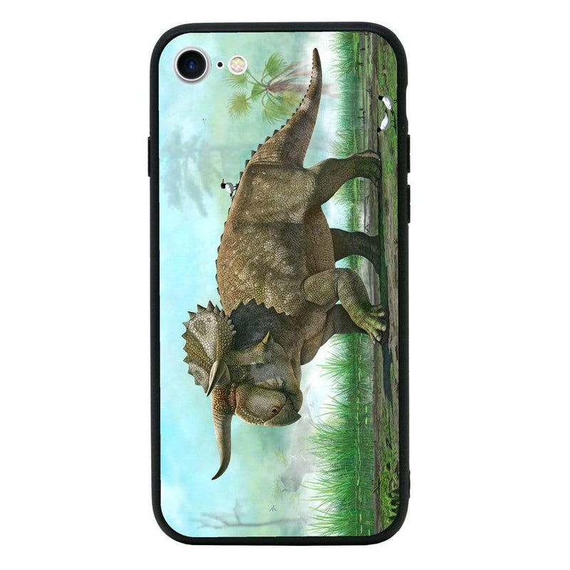 Glass Case Phone Cover for Apple iPhone 8 / Dinosaur I-Choose Ltd