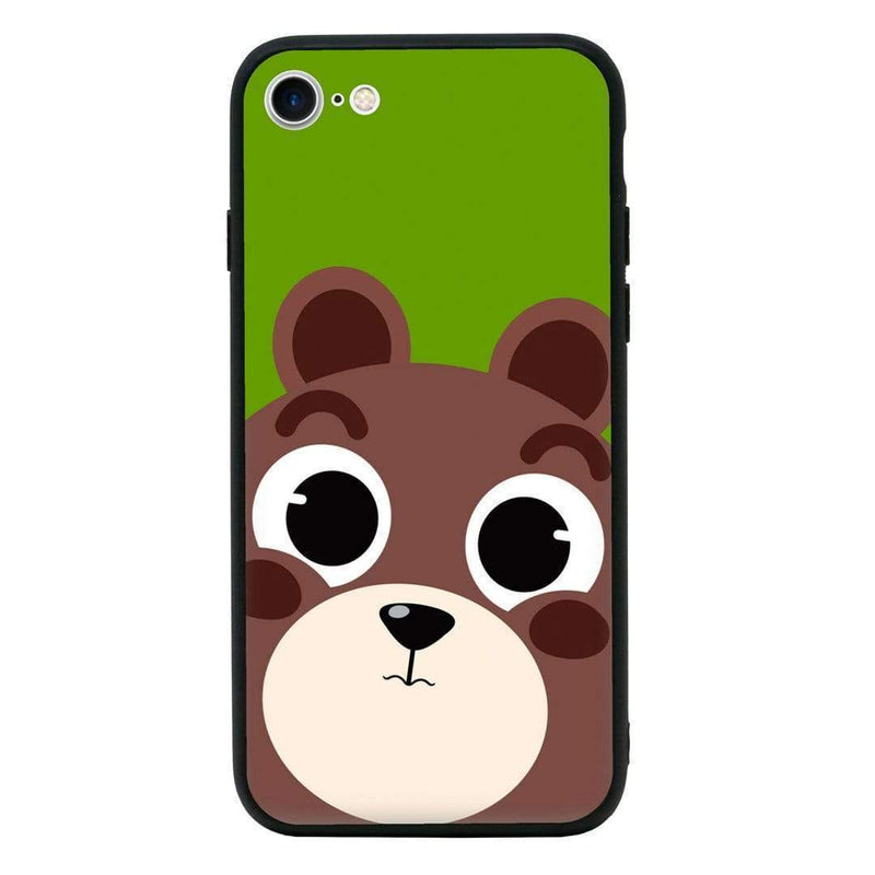 Glass Case Phone Cover for Apple iPhone 8 / Funny Animal Quips I-Choose Ltd