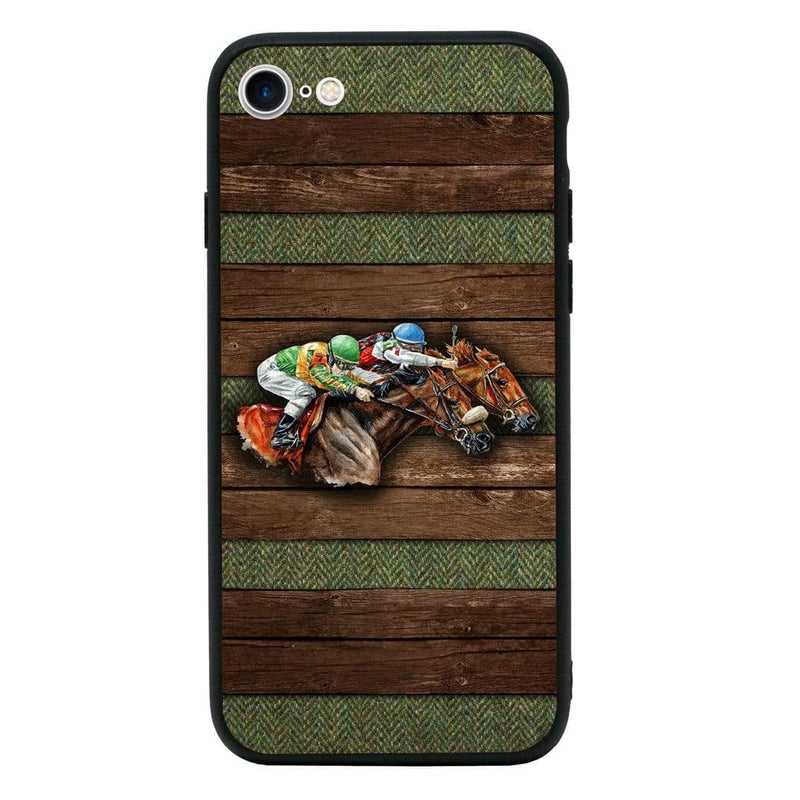 Glass Case Phone Cover for Apple iPhone 8 / Horse Racing I-Choose Ltd