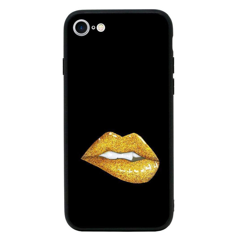 Glass Case Phone Cover for Apple iPhone 8 / Lipstick I-Choose Ltd