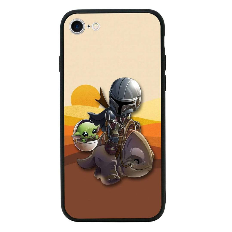Glass Case Phone Cover for Apple iPhone 8 / Mandalorian I-Choose Ltd