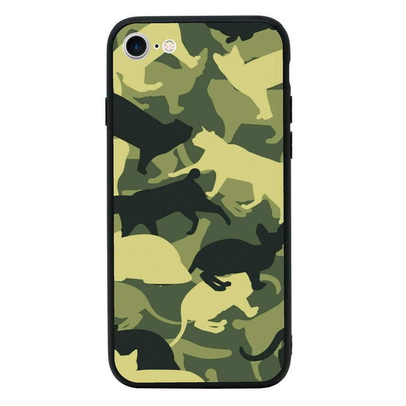 Glass Case Phone Cover for Apple iPhone 8 Plus / Camo Animals I-Choose Ltd