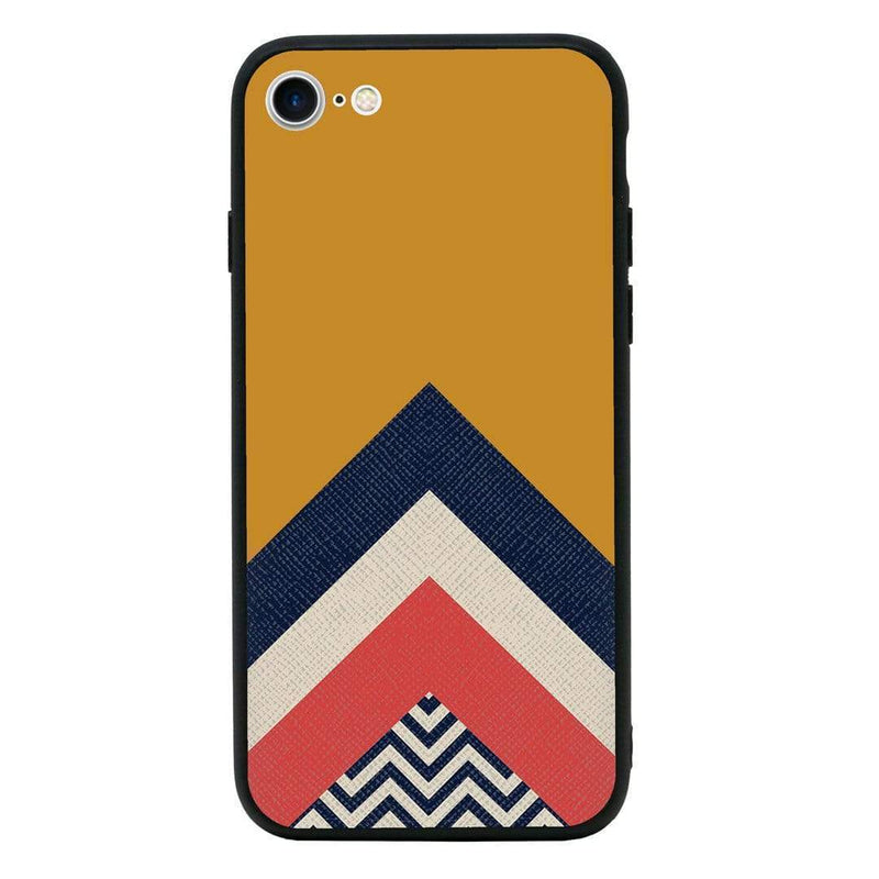 Glass Case Phone Cover for Apple iPhone 8 Plus / Chevron Block I-Choose Ltd