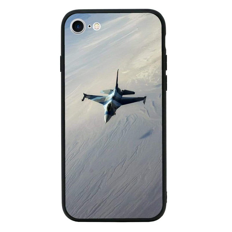 Glass Case Phone Cover for Apple iPhone 8 Plus / Fighter Planes I-Choose Ltd